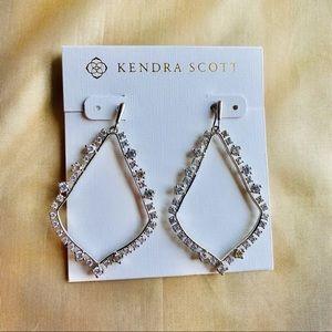 Kendra Scott Silver Sophee crystal earrings